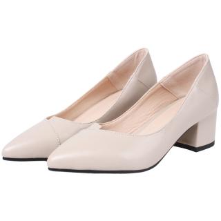 Giày nữ cao gót phong cách công sở ( xếp mũi) màu kem A21 thumbnail