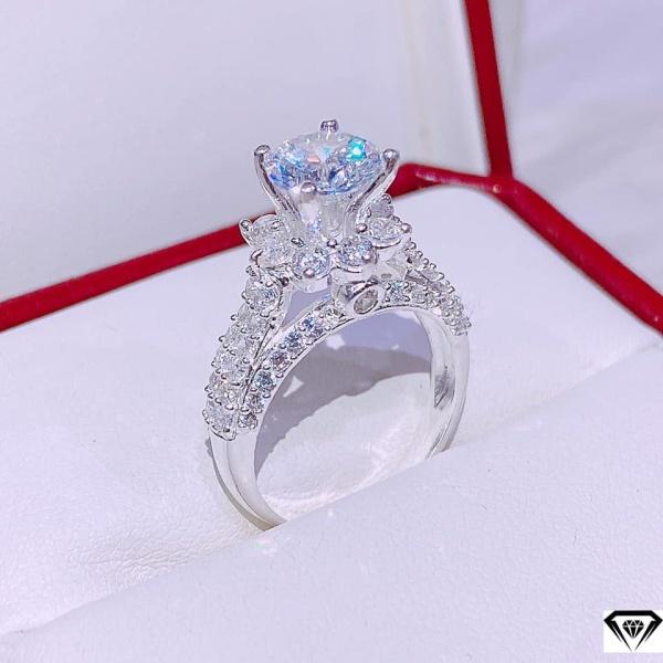 Nhẫn nữ bạc ta đính đá MS115
