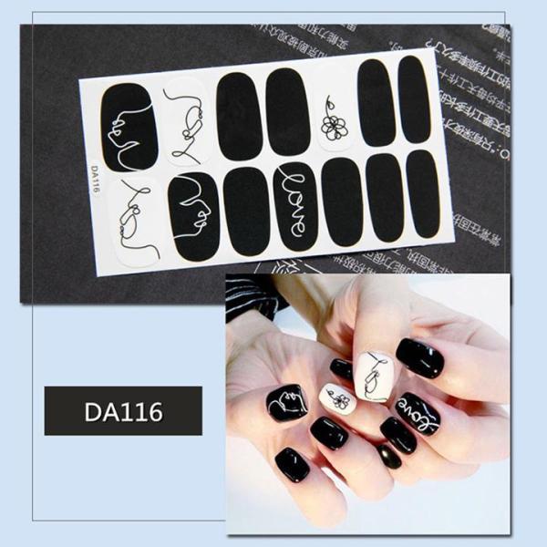 Sticker dán trang trí móng tay họa tiết dễ thương mã DA101 - DA120 cao cấp