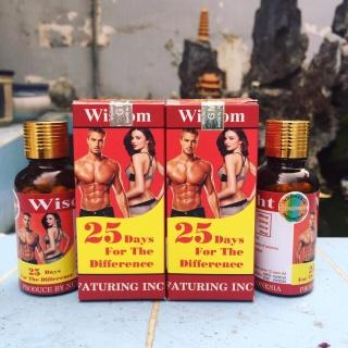 Viên Uống Hỗ Trợ Tăng Cân Và Cơ Bắp Wisdom Weight (Hộp 25 Viên) Chiết Xuất 100% Từ Mầm Hạt Đậu Nành Lên Men Chứa Hàm Lượng Dinh Dưỡng Cao thumbnail
