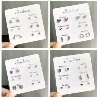Set Khuyên Tai 6 Món - Khuyên Tai Nữ Hot Nhất B2311 Bảo Ngọc Jewelry 3
