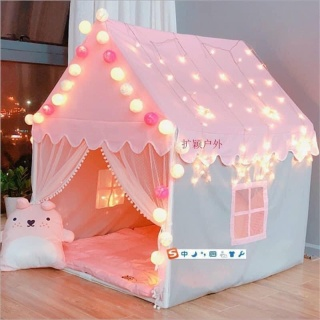 Lều cho bé lều cắm trại Lều công chúa hoàng tử mẫu mới cho bé yêu lều lục giác phong cách Hàn Quốc hàng cao cấp màu vàng, xanh, hồng cực đẹp. Tặng kèm bộ đèn trang trí thumbnail