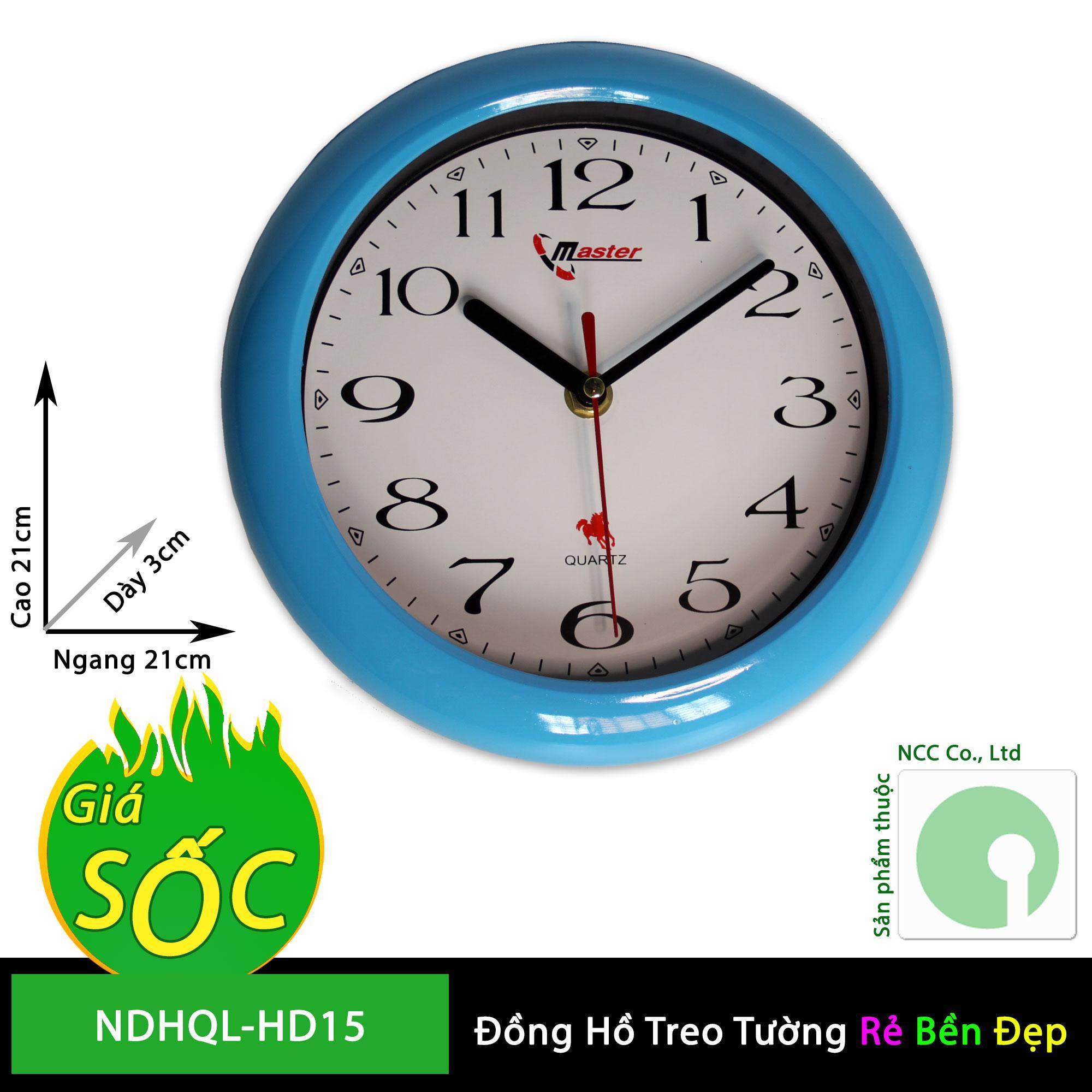 Nơi bán Đồng hồ treo tường - mặt tròn nền trắng - NDHQL-HD15 (Khung nền trắng)