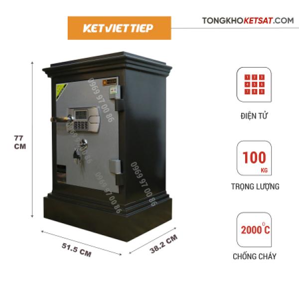 Két Sắt Gia Đình Việt Tiệp 🎁CHÍNH HÃNG🎁 Két Sắt Khóa Điện Tử K405-DT 100KG (Freeship Toàn Quốc)