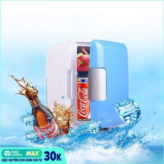 Tủ lạnh mini hộ gia đình và xe hơi 4Lít - Tủ lạnh mini 12V - Tủ lạnh mini 2 chế độ nóng lạnh 4 lít (Màu ngẫu nhiên) thumbnail