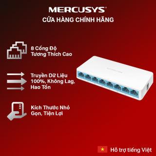 Bộ Chia Tín Hiệu MERCUSYS MS108 Switch Để Bàn 8 cổng 10/100Mbps - Hãng Phân Phối Chính Thức