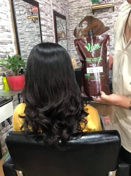 [HCM]Thuốc uốn duỗi tóc thông minh VIVA 1000ml*2, không lo cháy tóc giá rẻ