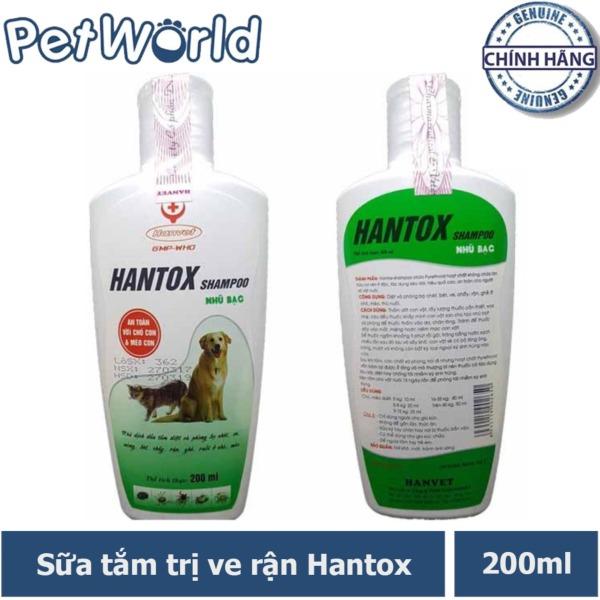 Hantox Shampoo Xanh 200ml - Sữa Tắm Trị Ve Rận Chó Mèo