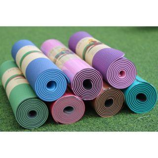Thảm tập YOGA TPE Cao Cấp 2 lớp- 6mm dộ bám cao , chống trơn trượt, tặng Bao Đựng Thảm Tập Yoga 2