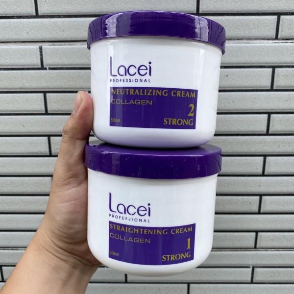 [HCM]Duỗi tóc không kẹp nhiệt siêu bóng dùng tại nhà LACEI COLLAGEN 500mlx2 giá rẻ