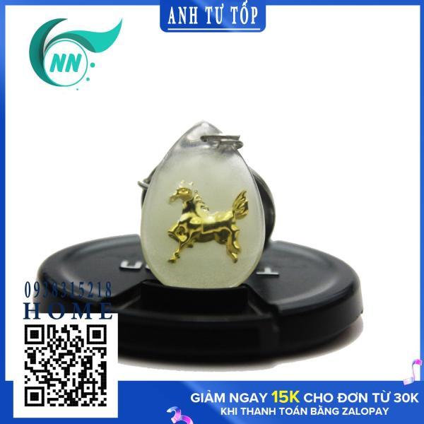 { 2020 Dạ Quang 12 Con Giáp } Móc Khóa Phong Thủy Ngũ Hành 3.5 x 2.5 cm