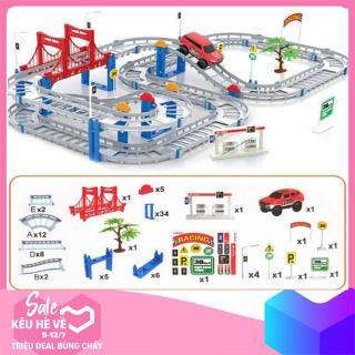 Bộ đồ chơi đường đua ô tô tàu lượn 88 chi tiết (loại to) thumbnail