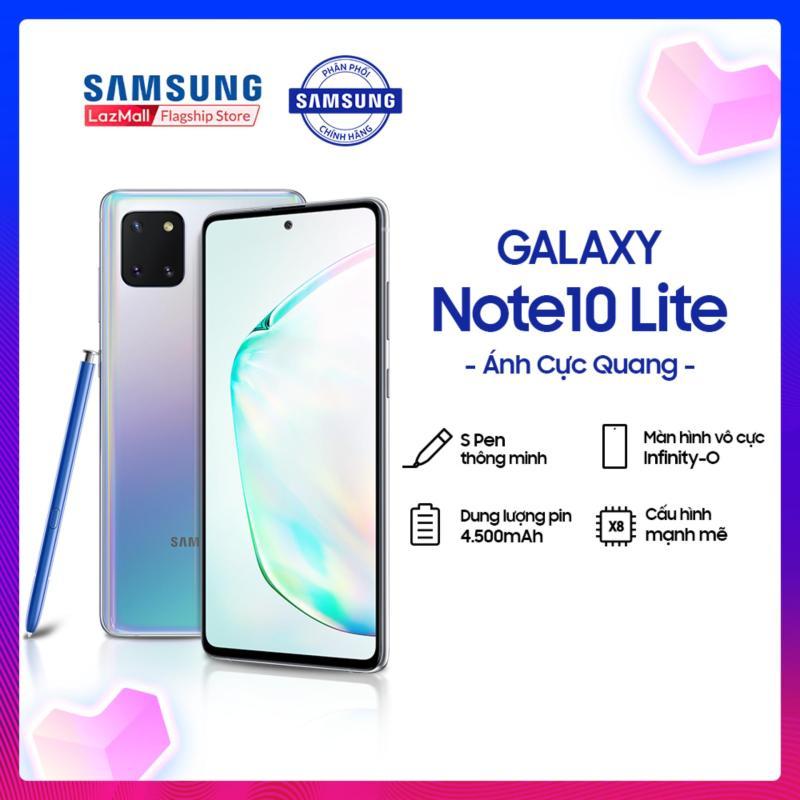 Điện thoại Samsung Galaxy Note10 Lite 128GB (8GB RAM) - Màn hình 6.7 inch Infinity-O Full HD+ Super AMOLED + S Pen cải tiến với 4096 cấp độ tương tác lực khác nhau + Sạc nhanh siêu tốc trong 1h + Pin 4,500mAH - Hàng phân phối chính hãng