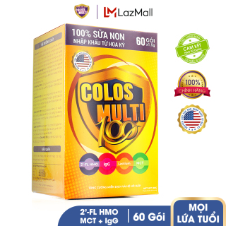 Sữa bột cho trẻ biếng ăn, tiêu hóa kém Mama Sữa Non Colos Multi 100 hộp 60 gói x 1,5g thumbnail