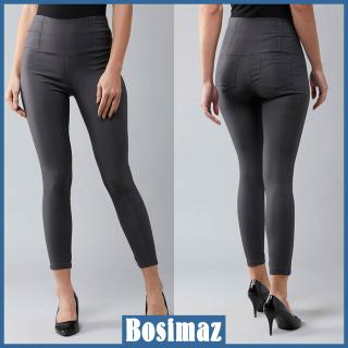 Quần Legging Nữ Bosimaz MS213 dài túi sau màu xám cao cấp, thun co giãn 4 chiều, vải đẹp dày, thoáng mát không xù lông. thumbnail