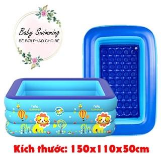 Bể Bơi Phao Cho Bé 1m5 - 3 Tầng Có Đáy Chống Trượt (sản phẩm k kèm hộp đựng) thumbnail