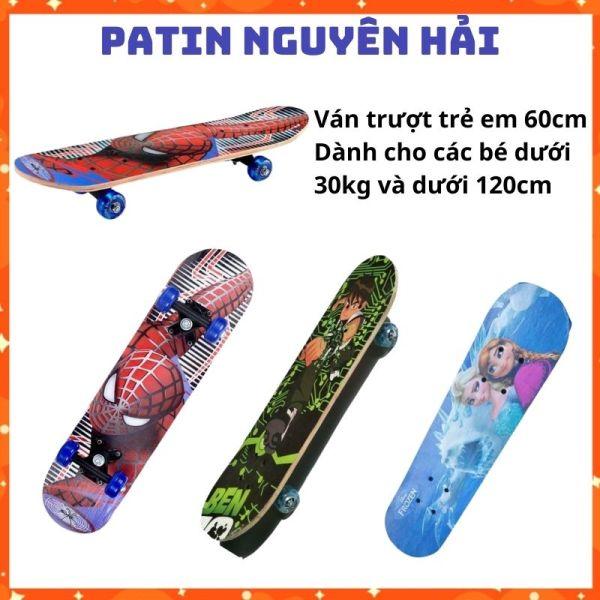 Mua Ván trượt trẻ em 7 lớp gỗ phong dài 60cm full hộp- Giày patin trẻ em Nguyên Hải