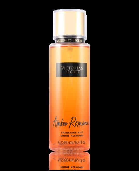 Xịt thơm toàn thân Amber Romance Fragrance Mist Victoria's Secret 250ml (Tặng Mặt Nạ Mắt Collagen Crystal Eyelid Patch)
