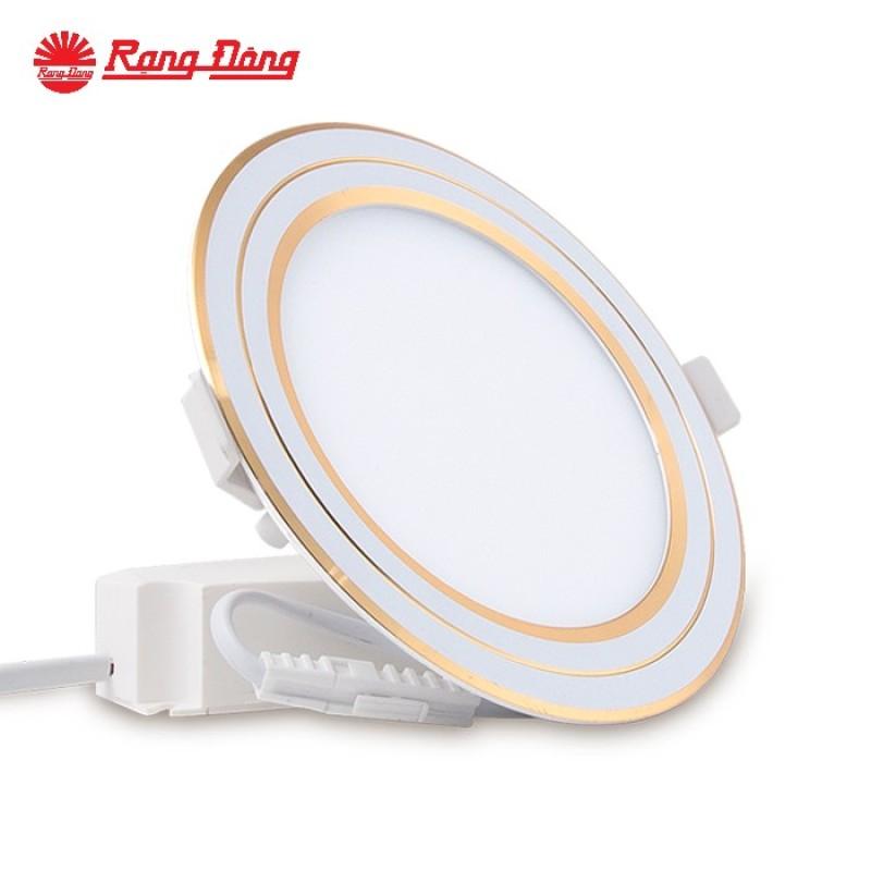 Đèn LED Panel tròn đổi màu Chính hãng Rạng Đông Siêu tiết Kiệm diện Dễ dàng lắp đặt Cho dải ánh sáng đẹp D PT05L DM 110/6W Viền Bạc, Vàng