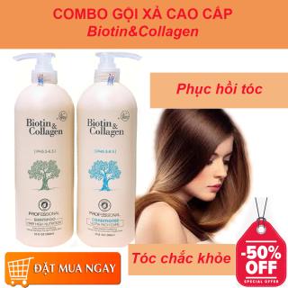 [HÀNG CÔNG TY] Cặp Gội Xả, Dầu Gội Đầu Cao Cấp. Biotin & Collagen trắng phục hồi tóc, chống rụng và kích thích mọc tóc, ngăn ngừa rụng tóc hiệu quả. thumbnail