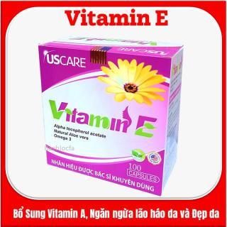 [Hộp 100 viên] Viên Uống Đẹp Da Vitamin E USCare 400UI Nguyên liệu Mỹ thumbnail