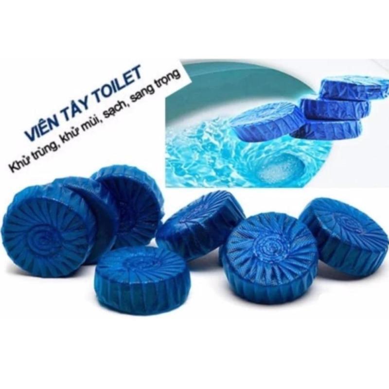 [COMBO 10 VIÊN} Vỉ 10 viên thả bồn cầu tạo hương diệt vi khuẩn, viên tẩy toilet khử mùi, diệt khuẩn giá rẻ - Viên tẩy bồn cầu cực sạch, cực thơm - Viên thả bồn cầu tẩy sạch Diệt khuẩn vết bẩn ở toilet Nhật Bản(Xanh)