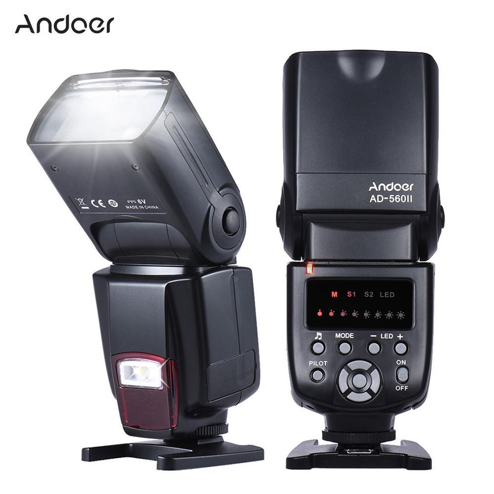 Giá Andoer AD-560Ⅱ Universal Flash Speedlite On-camera Flash GN50 w/ Adjustable LED Fill Light