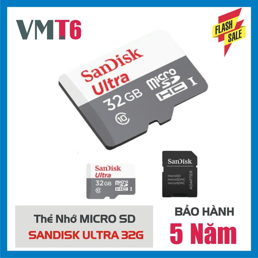 Giá Thẻ Nhớ Microsdhc sandi Ultra 32Gb Upto 100Mb/S 667X - Hàng Bảo Hành 60 Tháng!