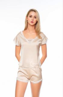 Dreamy - DN11 Đồ bộ ngủ lụa cao cấp tay ngắn phối ren trắng dể thương, phù hợp cho mọi lứa tuổi, đồ bộ mặc nhà mát mẻ, đồ bộ mặc nhà dể thương có ba màu nude, xanh bơ, hồng pastel thumbnail