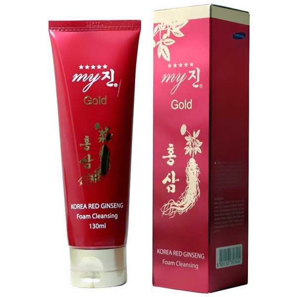 Sữa Rửa Mặt Hồng Sâm Hàn My Jin Gold 130ml (Hàng chuẩn), chống nám, chống nhăn cao cấp