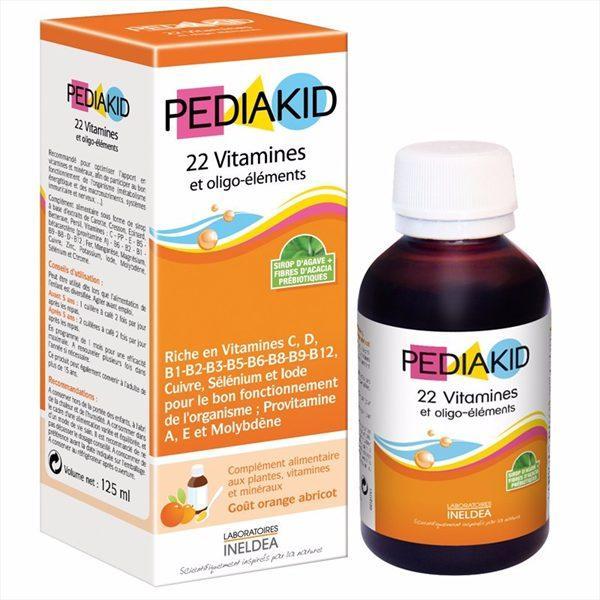 Chương Trình Ưu Đãi cho Pediakid 22 Vitamin Bổ Sung Vitamin Tổng Hợp Cho Bé 125ml