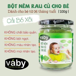 Bột nêm rau Cải Bó Xôi dành cho bé ăn dặm VABY 100g - Dành cho bé từ 6 tháng tuổi thumbnail