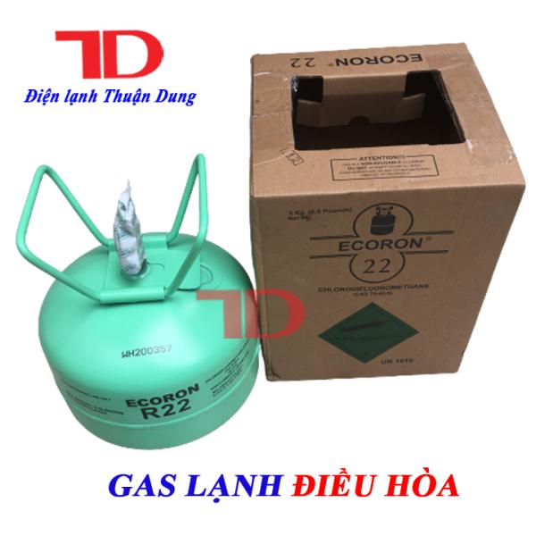 Gas lạnh điều hòa R22 ẤN ĐỘ 3KG ECORON, môi chất lạnh R22