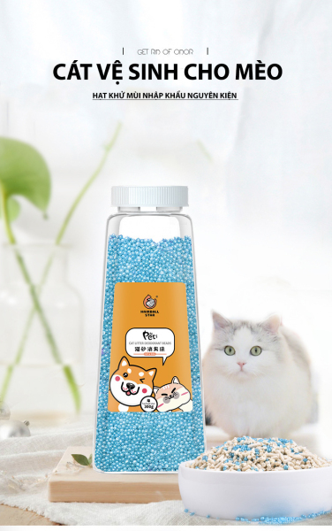 Hạt trộn cát vệ sinh chó mèo, hạt khử mùi đại tiện cho thú cưng