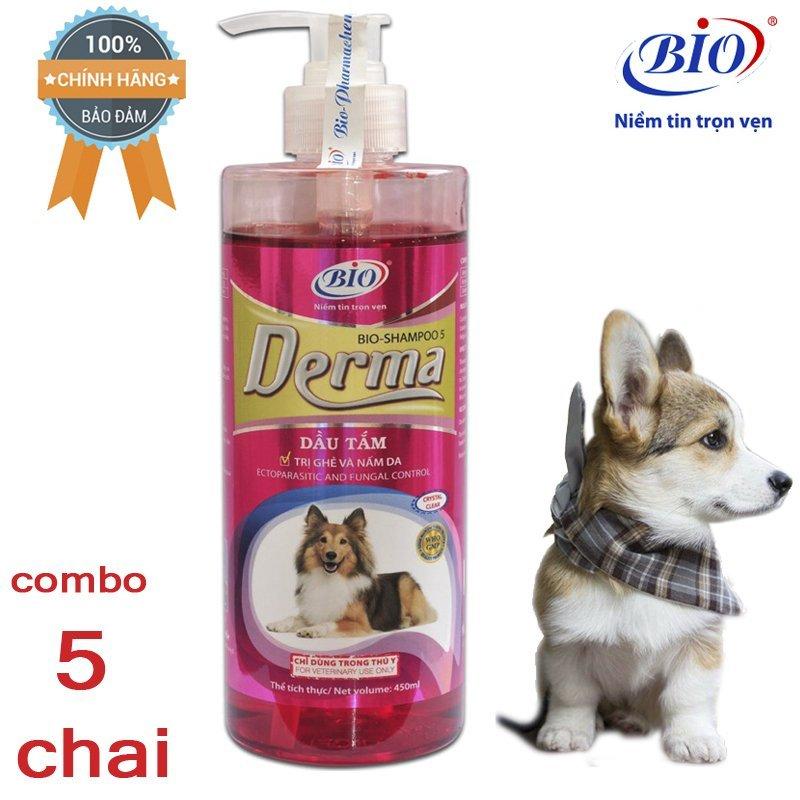[HCM]Combo 5 Chai Sữa tắm tiêu diệt ghẻ và nấm da demodex triệu chứng hôi lông với rụng lông-79303