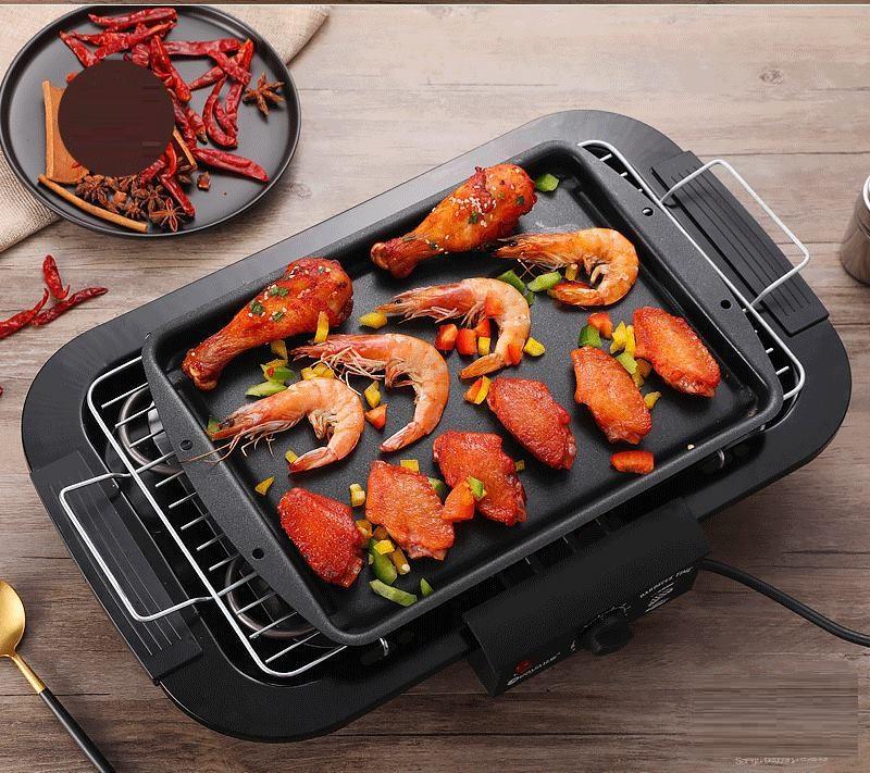 Giá Bán bếp nướng điện không khói, Bếp nướng BBQ, Bến nướng hải sản - Bếp nướng Babale, công suất 2000W, ché biến món nướng ngay tại nhà, không lo khói bụi, nướng thịt, rau củ, hải sản...nóng hổi. Giảm giá 50% khi đặt hàng Điện