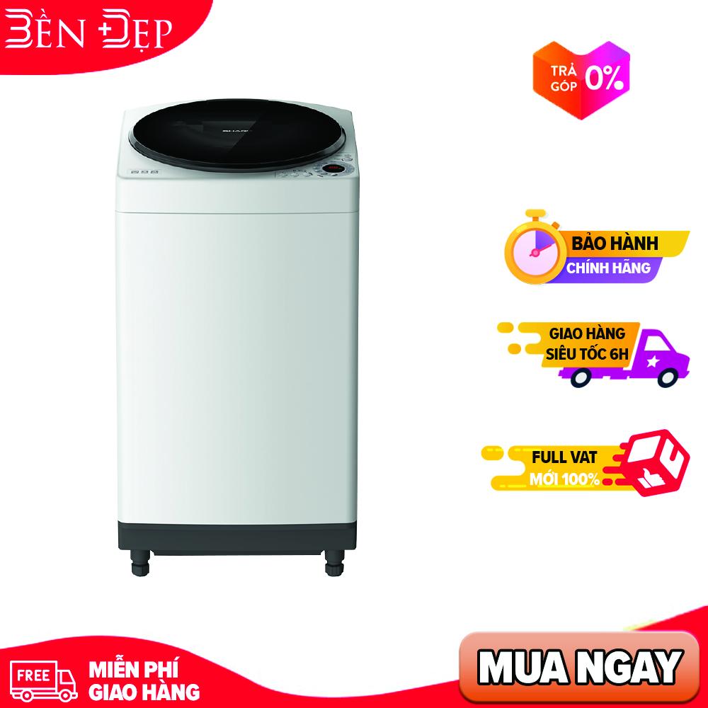 [TRẢ GÓP 0%] Máy giặt Sharp 8 kg ES-W80GV-H