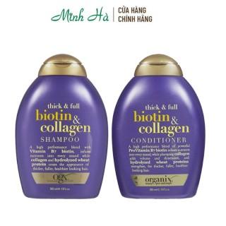 Bộ dầu gội Biotin Collagen Thick & Full OGX bản Mỹ 385ml dưỡng mọc tóc, suôn dày, mượt tóc, lưu hương lâu thumbnail