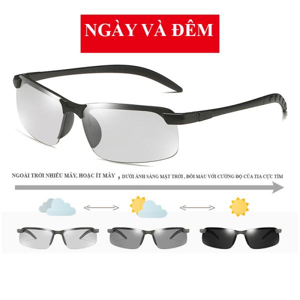 Giá bán Kính mát nam K005 mắt kính nam đổi màu theo ánh sáng ngày và đêm, kính râm chống tia cực tím UV mẫu mới sành điệu 2020
