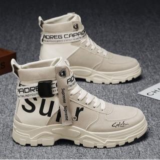 Giày cao cổ nam Sup Họa Tiết Khóa Cổ - MINH HÀ - 375, Kiểu dáng thời trang bụi bặm, Da Pu phối sợi thoáng khí, Đế Siêu Êm thumbnail
