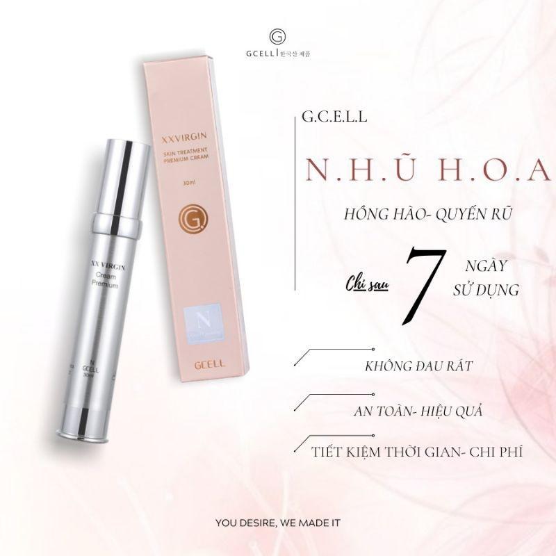 Kem làm hồng nhũ hoa Xxvirgin GCell Hàn Quốc 5 ml cao cấp