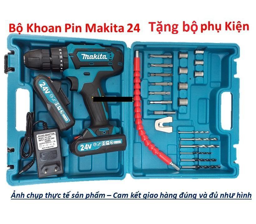 Máy khoan Pin MAKITA 24v - Tặng bộ phụ kiện