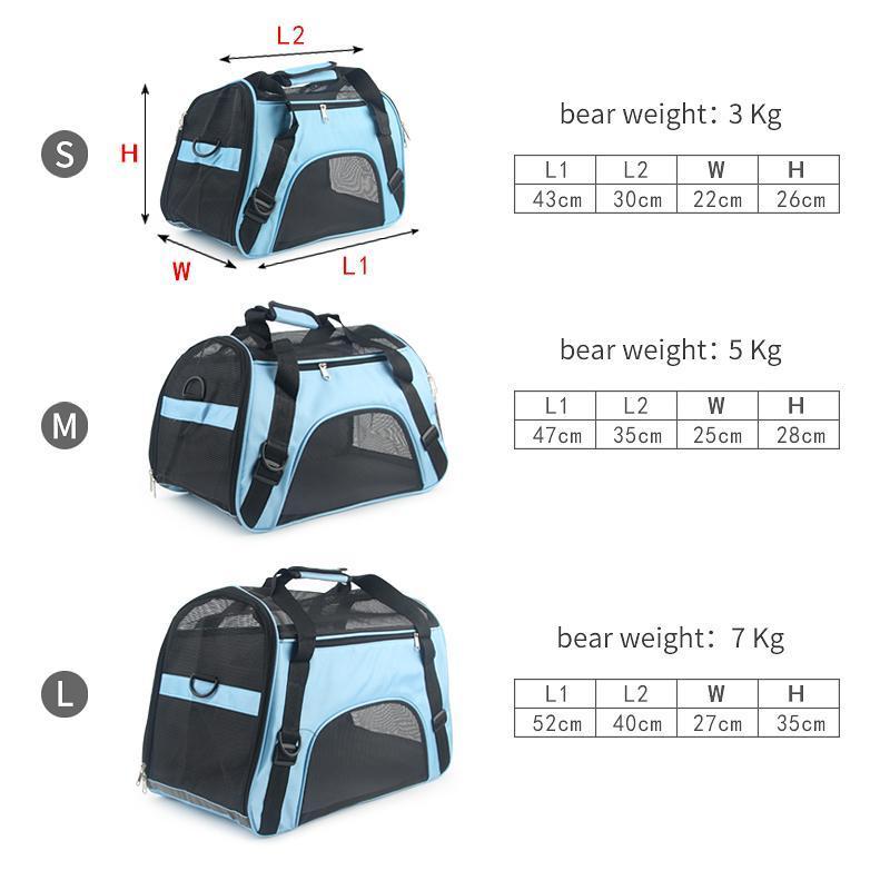 Túi xách thể thao vận chuyển dành cho boss sen chó mèo iu - Size M