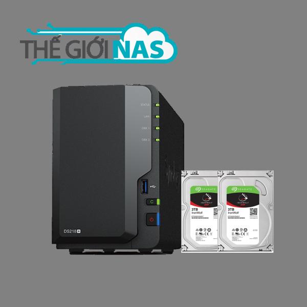 Bảng giá Combo Thiết bị lưu trữ mạng NAS Synology DS218+ và Ổ cứng Seagate Ironwolf 3TB Phong Vũ