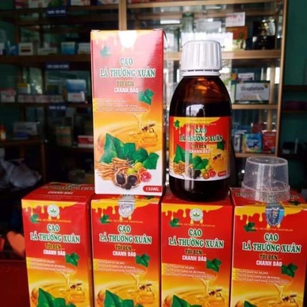 2 lọ cao lá thường xuân tỏi đen chanh đào (công ty g24), là sản phẩm hàng đầu trong dòng sản phẩm hỗ trợ điều trị đờm, ho, khò khè, khó thở… cao cấp