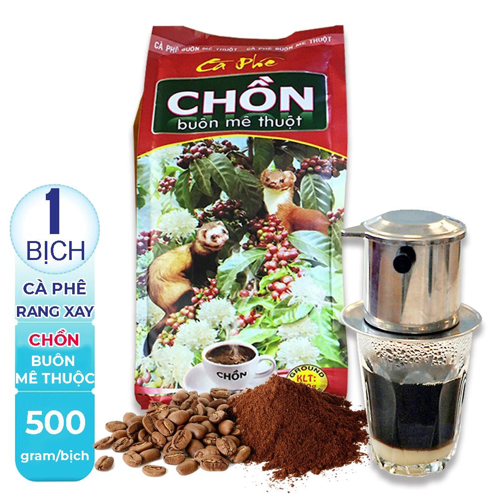 [HCM][ NGON VÀ THƠM LẮM ] 01 Bịch 500gr Cà phê pha Phin truyền thống Chồn Buôn Mê Thuộc của công ty Cao Đại Nguyên thượng hạng.