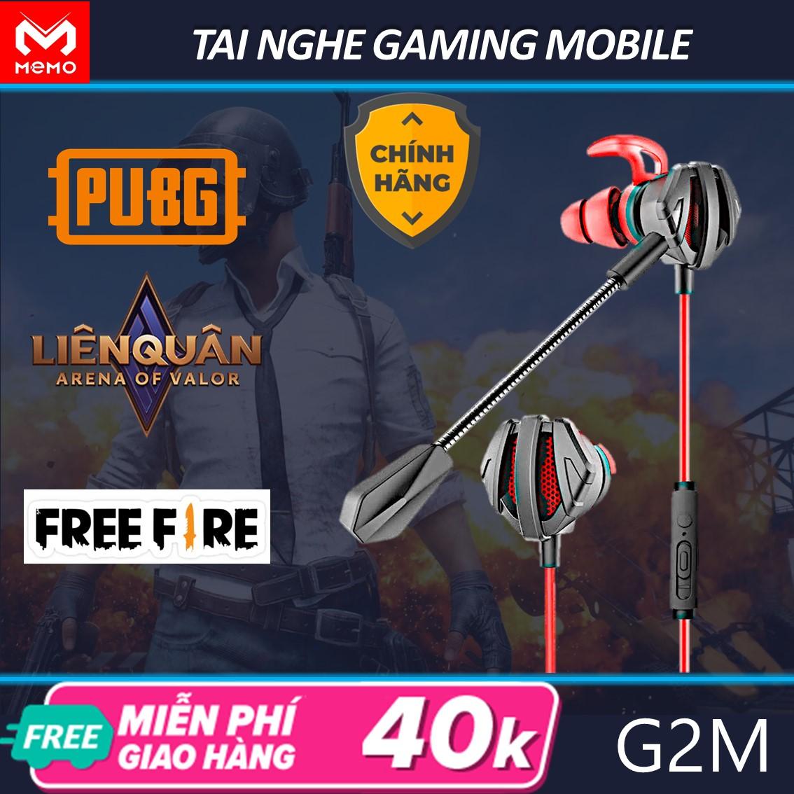 Tai nghe gaming cho điện thoại pc Memo G2M có mic nhét tai chơi tốt cho game pubg liên quân mobile liên minh huyền thoại csgo cho kết nối ổn định hon dòng tai nghe gaming bluetooth và tai nghe chụp tai đàm thoại rõ nét ổn định cao
