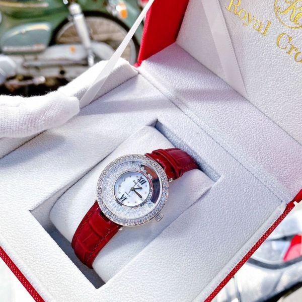Nơi bán [MUA 1 TẶNG 1] Đồng hồ nữ mặt tròn đồng hồ nữ R0yaI Crown 2060 size 28mm,Full box, Đồng hồ nữ dây da ,đồng hồ nữ chống nước, đồng hồ nữ cao cấp