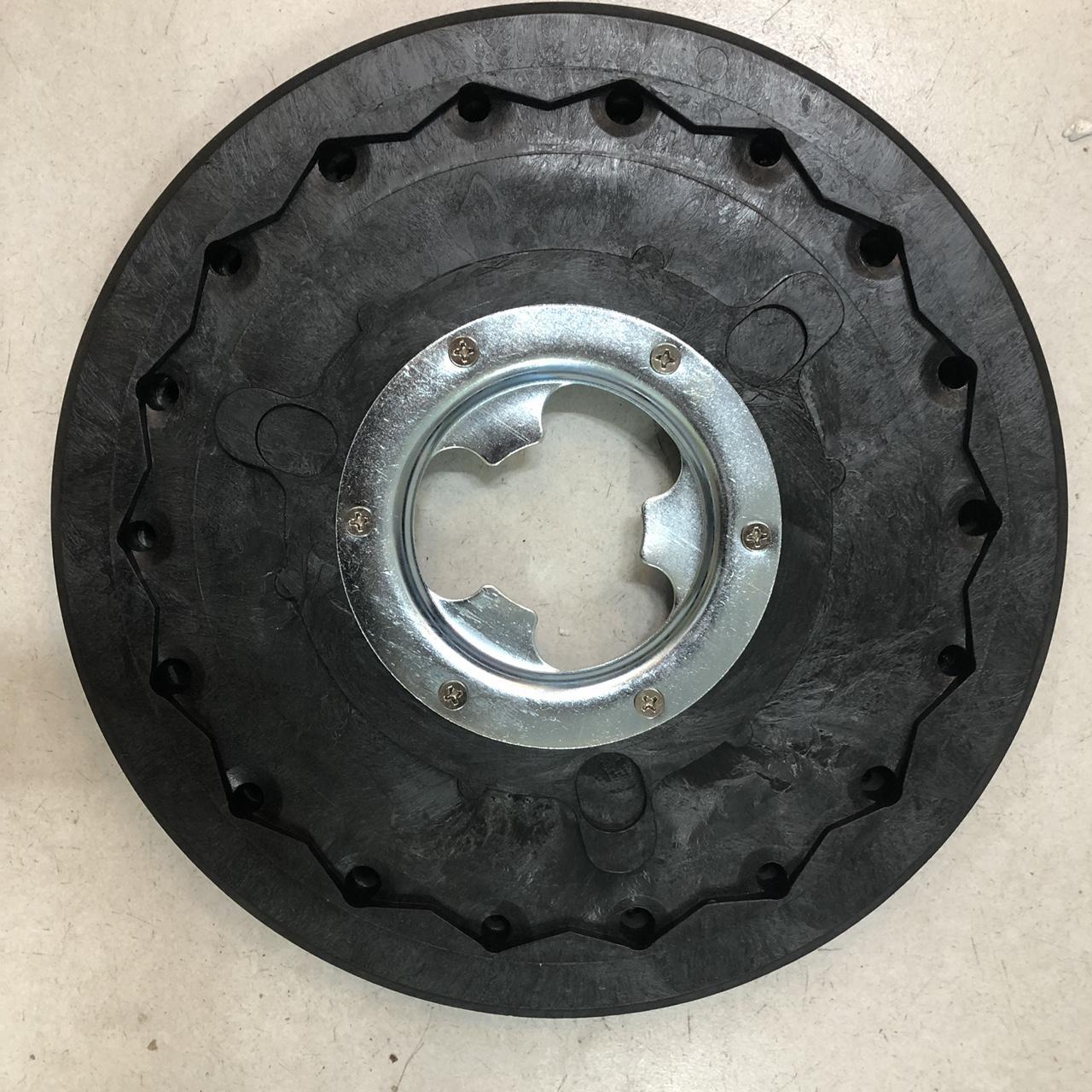 Mâm gai 17'' (inch) máy chà sàn đơn rãnh kim loại