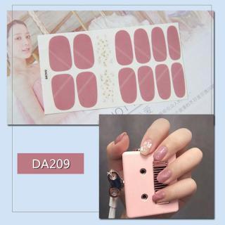 Bộ dán móng tay nail sticker gồm 14 móng mã DA201 - DA220 thumbnail